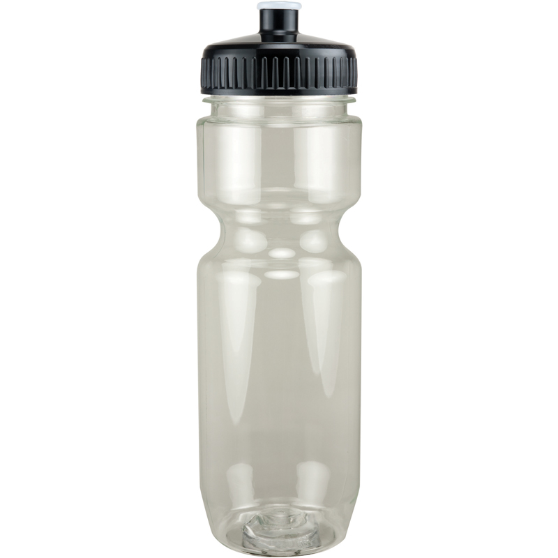 22Oz Translucent Bike Bottle With Push Pull Lid