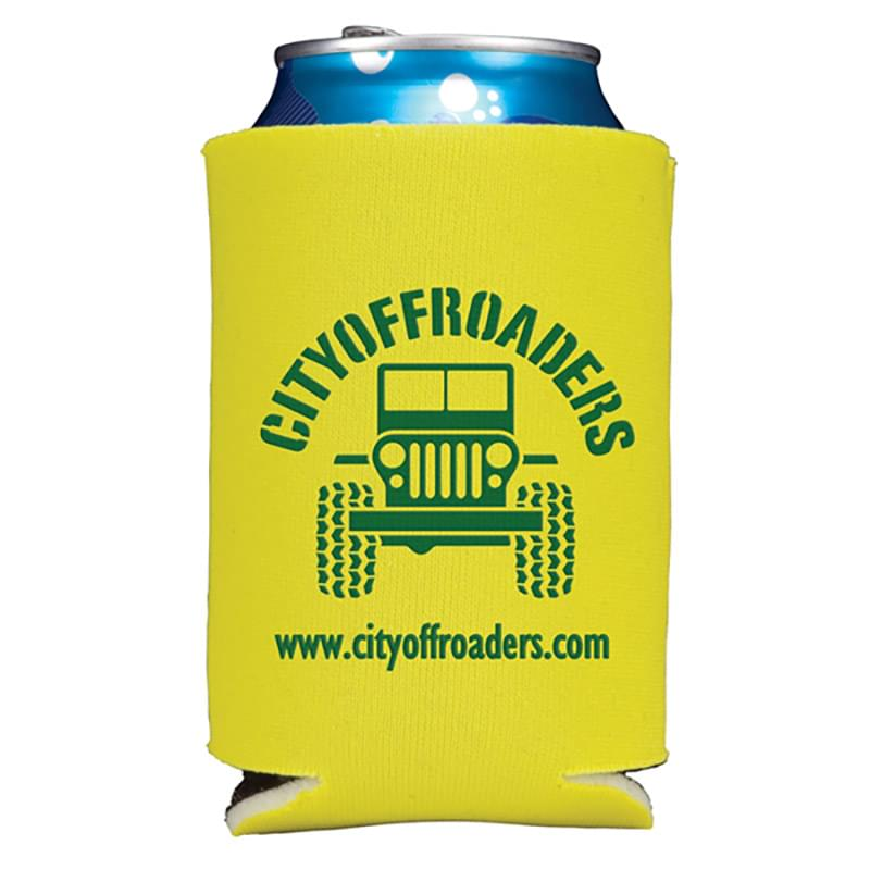 Folding Foam Can Cooler 2 sided imprint