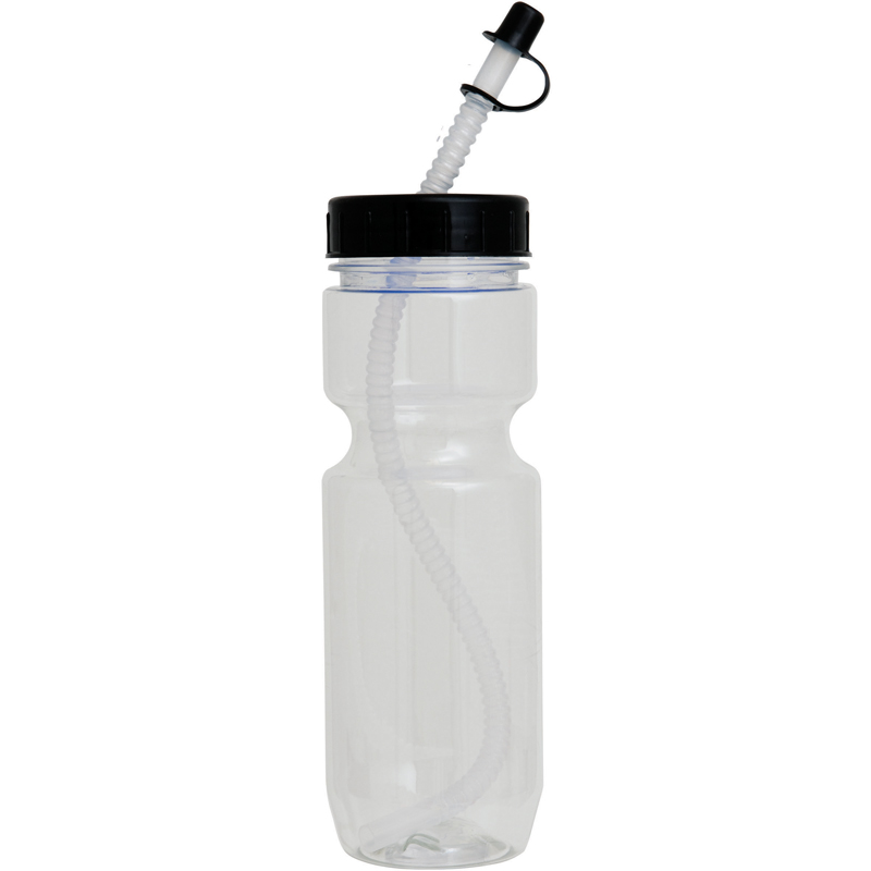 22Oz Translucent Bike Bottle With Straw Tip Lid
