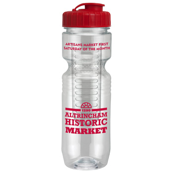26oz Translucent Jogger Bottle with Flip Top Lid & Infuser