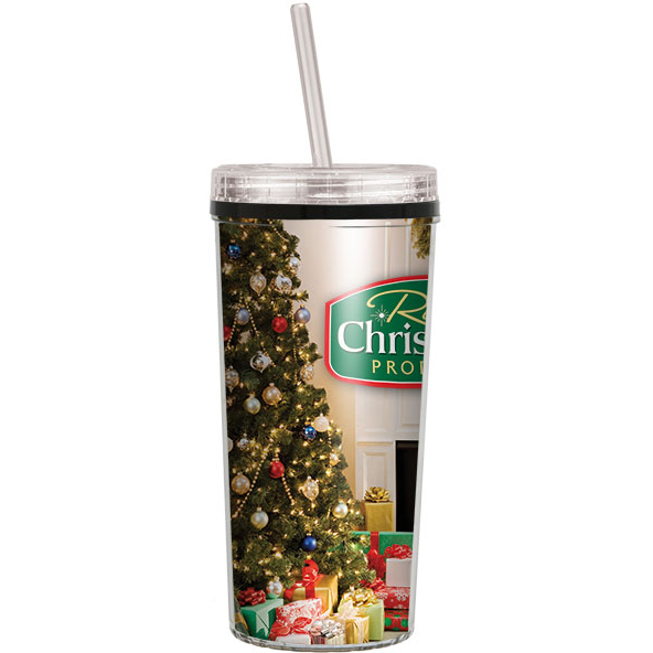 16Oz Niagara Insulated Tumbler With Screw On Straw Lid