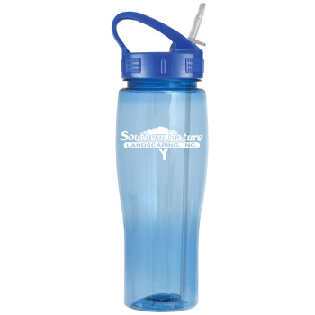 24oz Translucent Contour Bottle with Sport Sip Lid & Straw