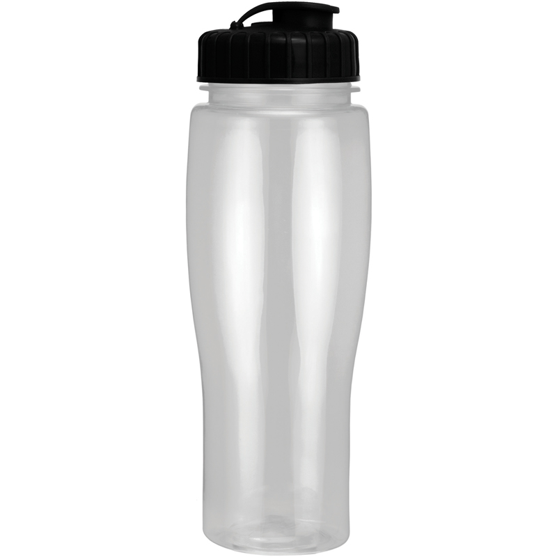 24Oz Translucent Contour Bottle With Flip Top Lid
