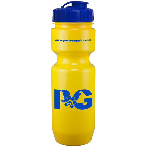 22Oz Bike Bottle With Flip Top Lid
