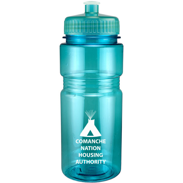20Oz Translucent Recreation Bottle With Push Pull Lid