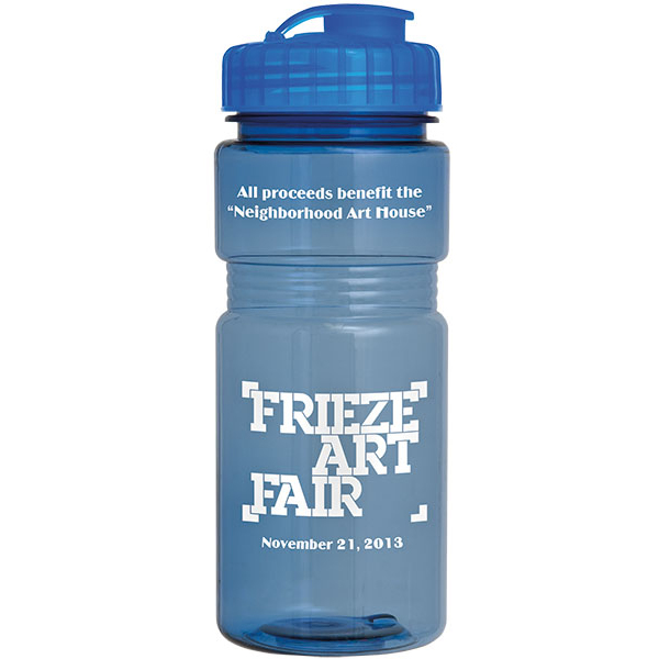 20Oz Translucent Recreation Bottle With Flip Top Lid