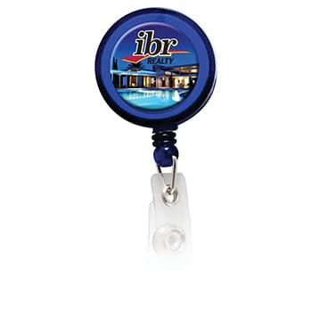 Round Domed Badge Holder with Alligator Clip