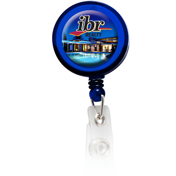 Round Domed Badge Holder With Slide On Clip