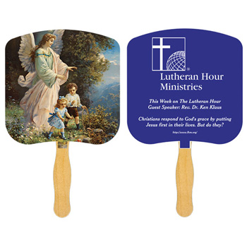 Guardian Angel Fan With One Color Imprint
