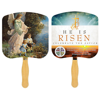 Guardian Angel Fan With Four Color Process Imprint