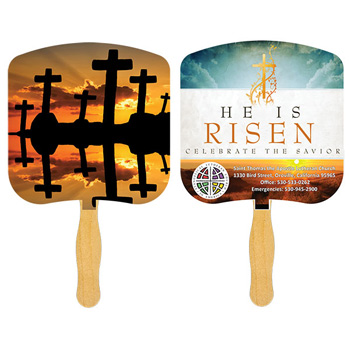 Crosses At Sunset Fan With Four Color Process Imprint