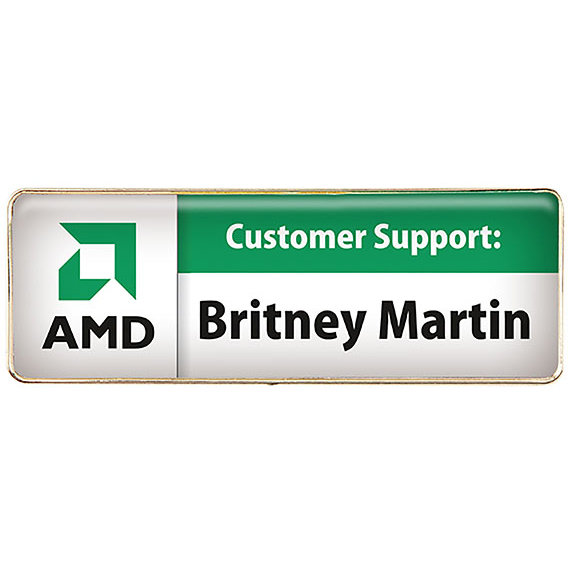 Rectangle Name Badge (Magnet Bar)