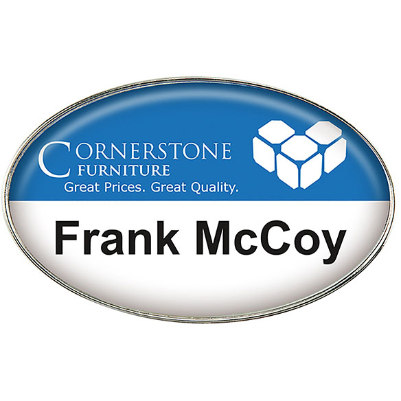 Oval Name Badge (Magnet Bar)