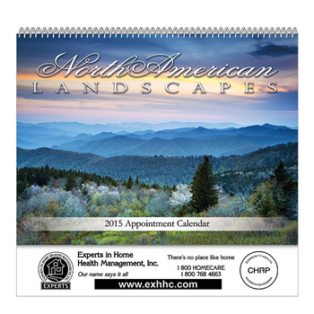 Landscapes Of North America Spiral Bound Wall Calendar